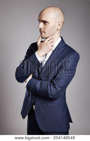 Pensive Man Looking Aside