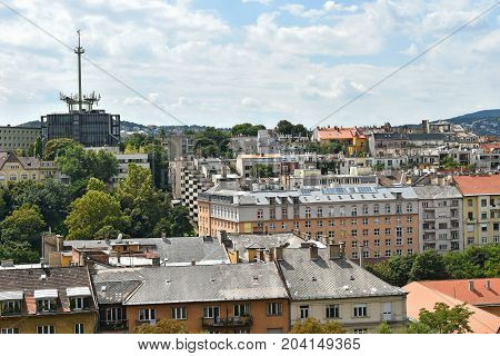 View of Budapest Hungary. This is the Buda part of the city