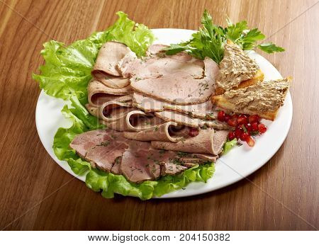 Beautiful Sliced Meat Arrangement