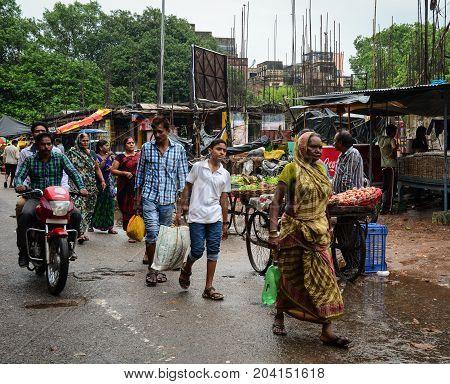 Street Market In Varanasi, India