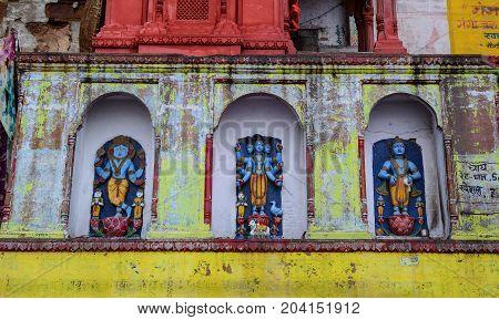Small Hindu Temple In Varanasi, India