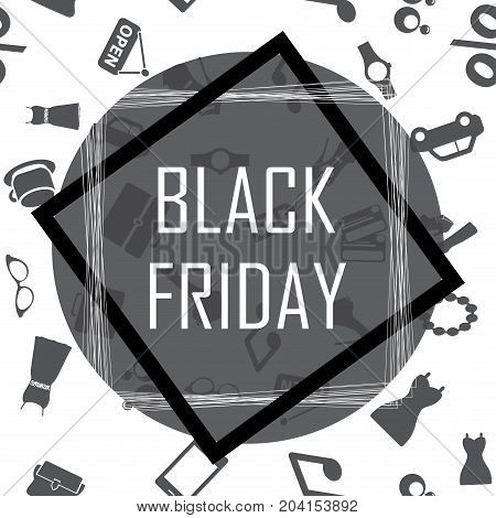 Black Friday Inscription Design Template. Sale Banner