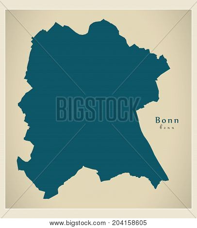 Modern Map - Bonn City Of Germany De