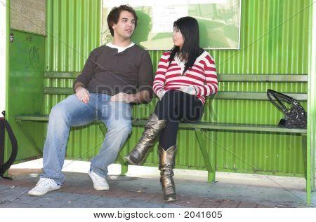 Bus Stop Couple