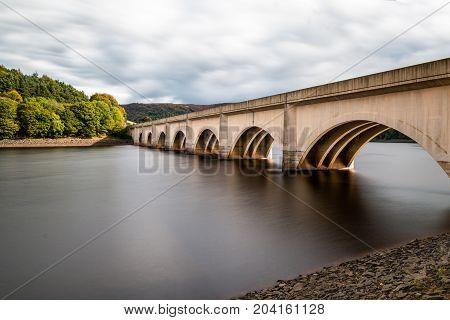 Bridge over Ladybower Reservoir, in the Upper Derwent Valley in Derbyshire