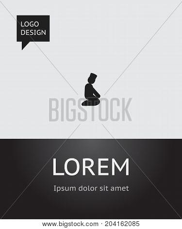 Vector Illustration Of Dyne Symbol On Knee Bending Icon