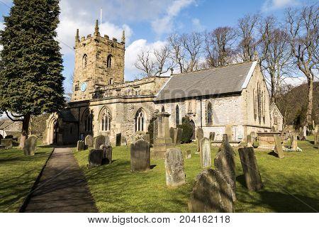 Holy Trinity Church North Derbyshire Church in summer sun