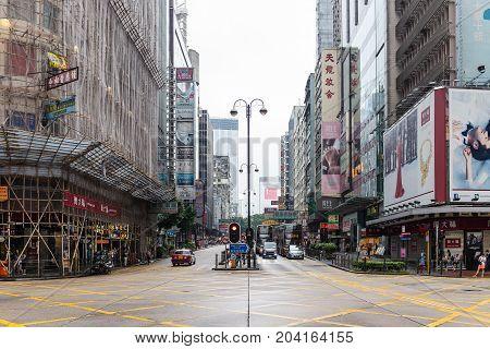 Jordan Intersection At Hong Kong