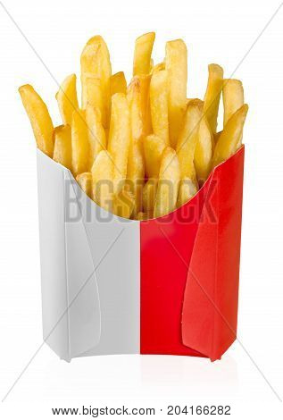 French box food isolated stick cafe white