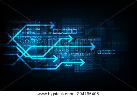 Vector technology that represents digital communication on a dark blue background.