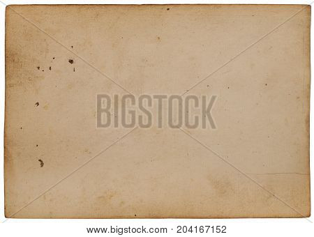 Antique paper isolated on white background with clipping path