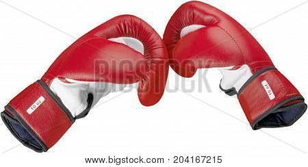 Red boxing glove sport protection punch knock