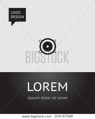 Vector Illustration Of Mp3 Symbol On Music Loudspeaker Icon