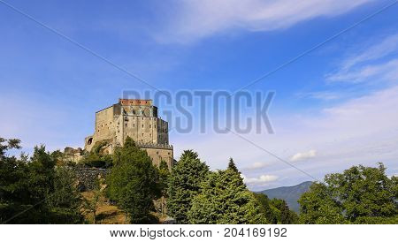 Sacra di San Michele (Saint Michael Abbey) symbol of Italian Piedmont region religious landmark