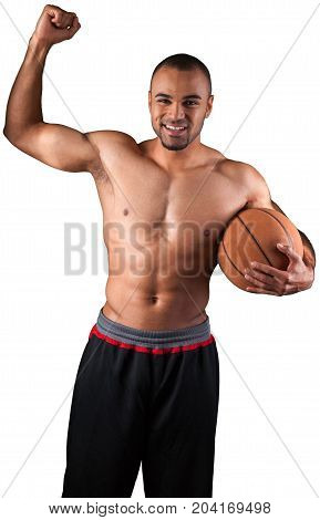 Basketball man sport holding male athlete adult