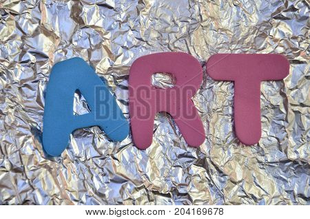 WORD ART ON A  ABSTRACT COLORFUL BACKGROUND