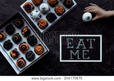 Halloween Cupcakes And Inscription