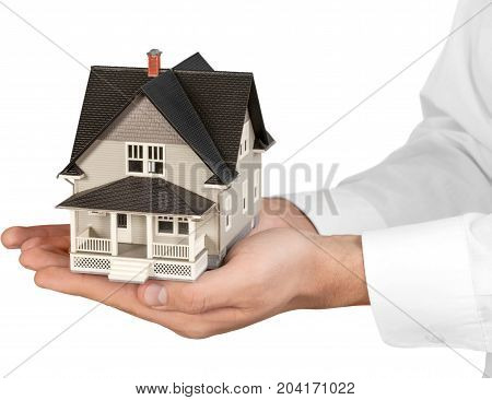Real estate concept house model home insurance household insurance insurance building insurance