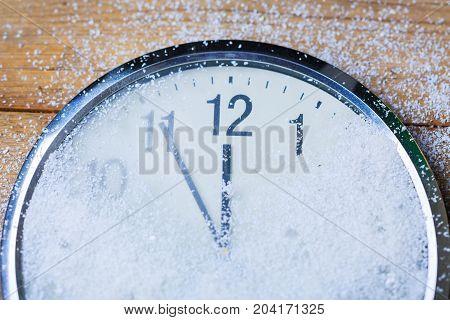 Clock countdown white blue background nobody horizontal