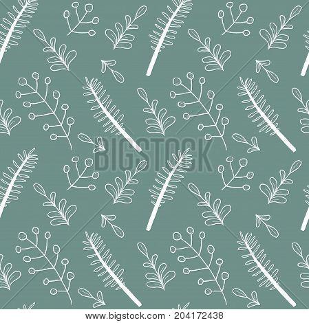 Plant Doodle Pattern
