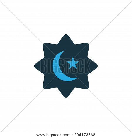 Premium Quality Isolated Islamic Element In Trendy Style.  Believer Colorful Icon Symbol.