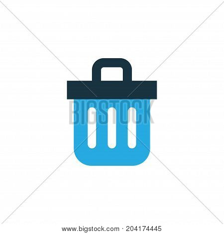 Premium Quality Isolated Recycle Bin    Element In Trendy Style.  Trash Can Colorful Icon Symbol.