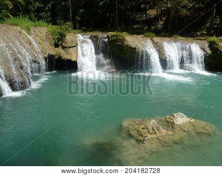 Cambugahay water falls on Siquijor island Philippines