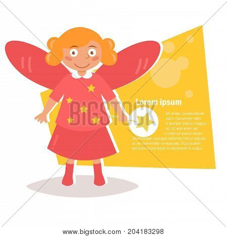 Child costume for Halloween. Vector. Cartoon. Isolated art on white background. Flat. Fairy