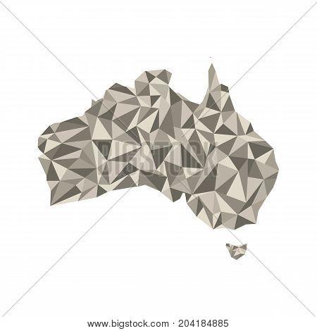 Map of Australia. Isolated vector illustration. Map of the Australian continent. Australia silhouette.