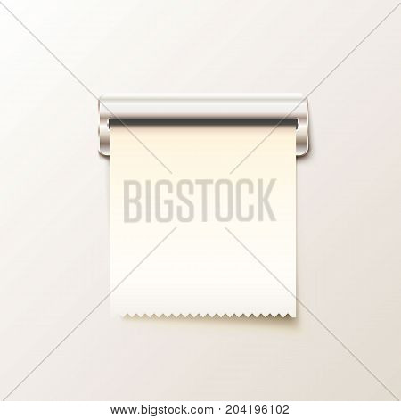 Print receipt cash on white background. Vector illustration