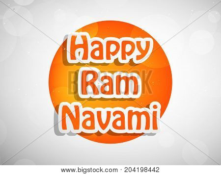 illustration of Happy Ram Navami text on the occasion of hindu festival Dussehra