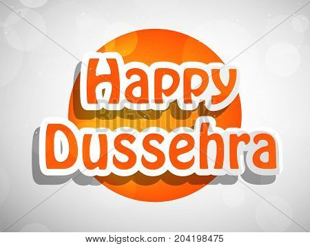 illustration of Happy Dussehra text on the occasion of hindu festival Dussehra