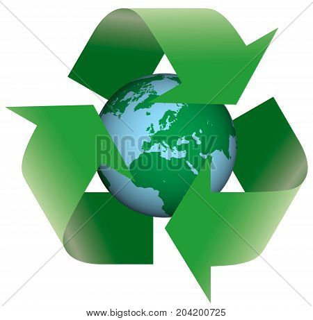 Recycling Earth symbol sign concepts ideas arrow