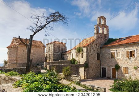 Churches in Old Town of Budva (Church of Santa Maria in Punta and Church of St. Sava). Montenegro