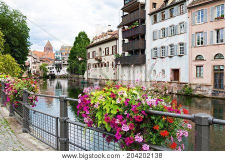 La Petite France district in Strasbourg France at summer