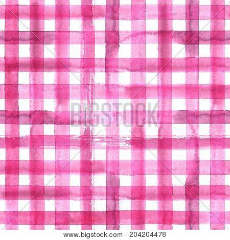 Pink Plaid Seamless Pattern
