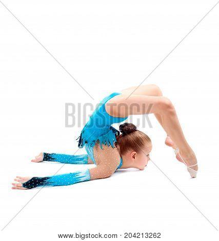 Little Girl Makes Gymnastic