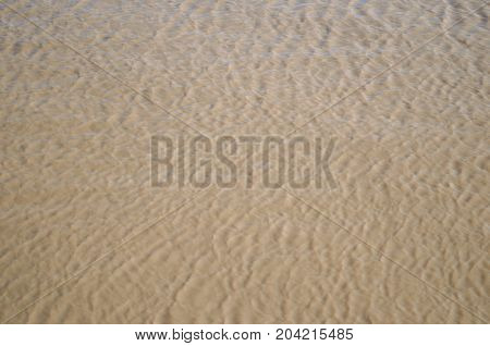 brown muddy river water with light ripples