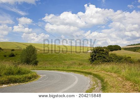 Curved Country Road