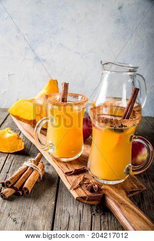 Spicy Hot Pumpkin Sangria