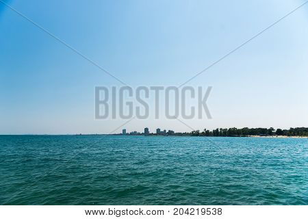 Michigan Lake Beach In Chicago South Side