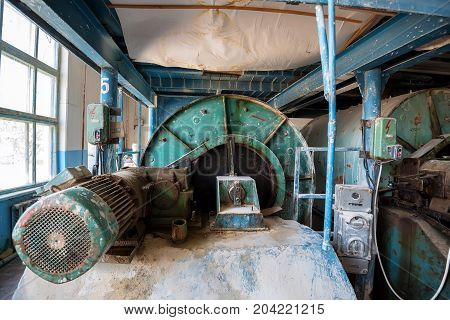 Vintage equipment of an old faience factory