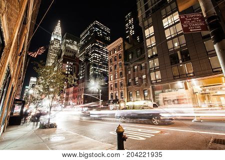 Manhattan, middle-town new York City by night