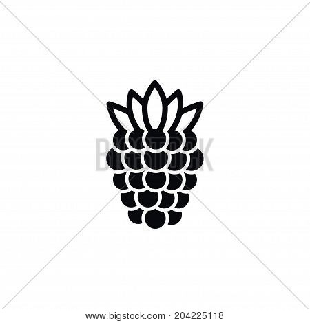 Scrub Vector Element Can Be Used For Bramble, Blackberry, Dewberry Design Concept.  Isolated Blackberry Icon.