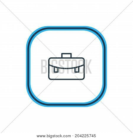 Beautiful Education Element Also Can Be Used As Portfolio  Element.  Vector Illustration Of Briefcase Outline.