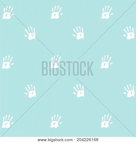 Seamless pattern, prints of hands of the child