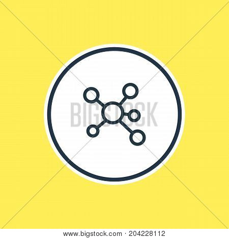 Beautiful Network Element Also Can Be Used As Publish Element.  Vector Illustration Of Share Outline.