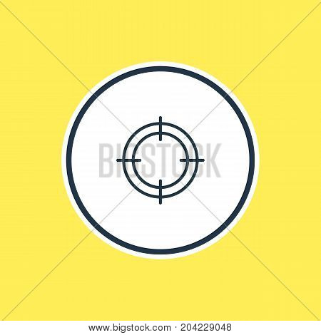 Beautiful Fitness Element Also Can Be Used As Sniper  Element.  Vector Illustration Of Target Outline.