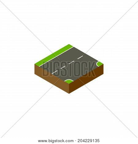 Down Vector Element Can Be Used For Down, Downward, Road Design Concept.  Isolated Downward Isometric.