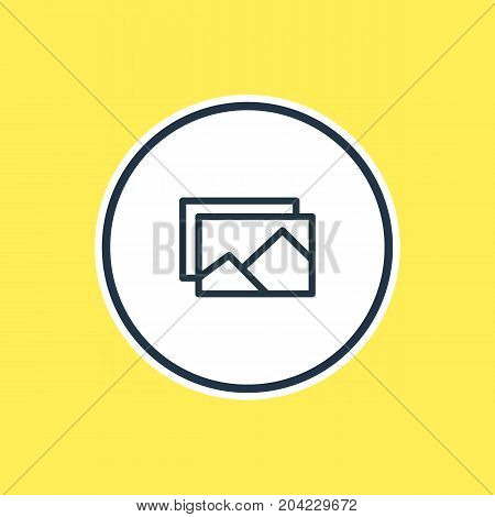 Beautiful Leisure Element Also Can Be Used As Picture Element.  Vector Illustration Of Image Outline.